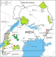 Uganda Africa Map uganda u2013 wildtrails safaris uganda