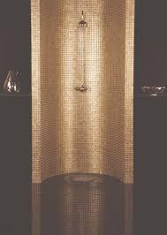 Feature Wall Bathroom Ideas Bullion Metallic Mosaics Feature A Popular Gold Finish Encased In