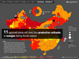 China On Map by China U0027s Approved Synthetic Natural Gas Plant Capacity Vs Seasonal