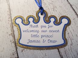 gold crown favor tags little prince little prince party decor