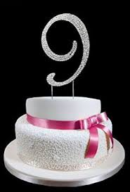 buy 9th birthday wedding anniversary number cake topper with