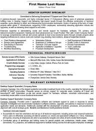 Sle Resume For Service Desk Resume For It Support Templates Franklinfire Co