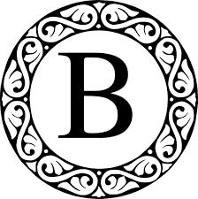 Monogram Letter B Monogram B Clip Art At Clker Com Vector Clip Art Online Royalty