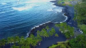 drone punalu u0027u black sand beach youtube