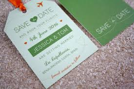 luggage tag save the date green luggage tag save the date rodo creative