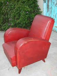 Red Club Chair Vintage French Leather Club Chair Red Deco Orphan Item 365528