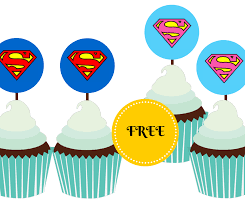 superman cake toppers free printable supergirl and superman cupcake toppers