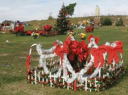 Christmas Grave Decorations Holy Cross Cemetery
