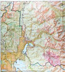 Colorado Mountains Map by Trail Map Of Rocky Mountain National Park Colorado 200