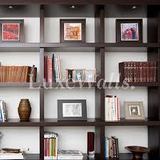 wallpaper that looks like bookshelves bookshelf wallpaper luxe walls