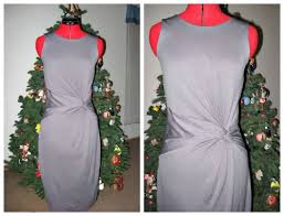Draped Skirt Tutorial Twist Front Dress Pattern Potm So Sew Easy