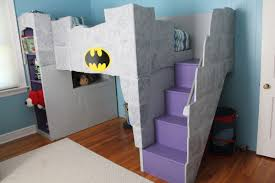 Batman Decoration Creative Boys Bedroom Design Ideas With Grey Bunk Bed Purple