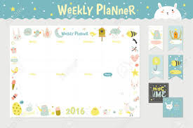 cute calendar weekly planner template for 2016 beautiful diary