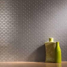aspect wide hex stainless matted backsplash backsplash ideas
