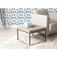 bout de canapé m lali bout de canapé industriel en métal et bois l 49 x l 49 x h 49