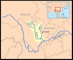 rivers in china map min river sichuan