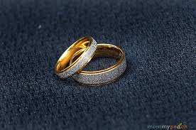 wedding ring ph two tone gold plated titanium wedding bands from zoey ph
