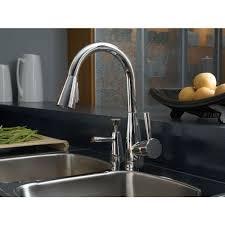 brizo kitchen faucet reviews d63070lfpc venuto pull out spray kitchen faucet chrome at