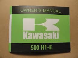 1974 kawasaki 500 h1e owner u0027s manual h1 e owners riders rider u0027s