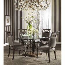 dinning glass top table round glass table and chairs glass dining