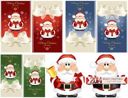 2014 vector christmas cards with santa vector graphics blog