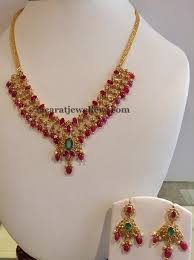 ruby necklace set images Ruby drops necklace 29gms onyx emeralds rubies pinterest jpg