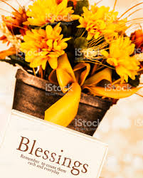 thanksgiving message count your blessings stock photo 175192153