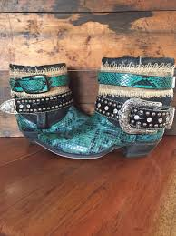womens cowboy boots size 9 1 2 snakeskin upcycled cowboy boots s size 7 1 2 kick