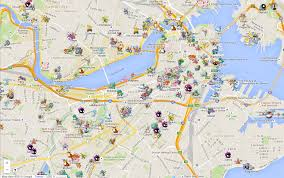 Boston College Map by