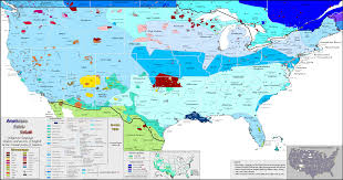 United States Canada Map by United States Of America Linguistic Map