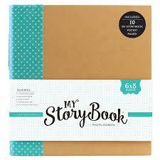6x8 photo album echo park my storybook 6 x 8 teal dot photo journal