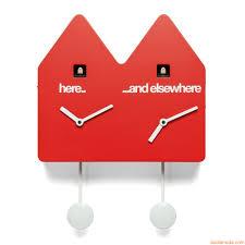 Horloge Cuisine Rouge by Double Q Horloge à Coucou Double De Design Avec Deux Balanciers