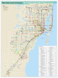 Maps Florida Miami Transportation Map Miami Public Transportation Map
