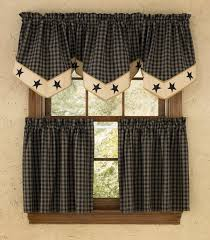 star lined single point curtain valance