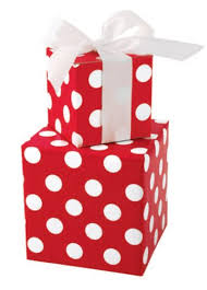 bright white polka dot gift wrap wrapping paper