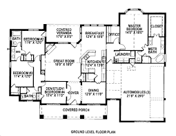 craftsman style house floor plans colonial style house plan 4 beds 3 50 baths 2500 sqft 430 35 sq ft