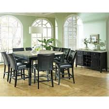 counter height table sets with 8 chairs steve silver monarch marble top counter height table set w 8 chairs