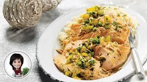 cuisiner du saumon au four filet de saumon au four de josée di stasio recette iga