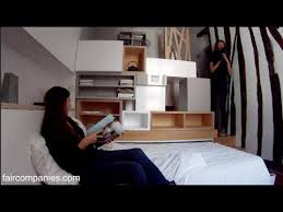 paris micro apartment stacks kitchen bed bath in 129 sq ft youtube
