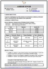 Sample Resume For Mba Finance Freshers by Mba Finance Fresher Resume Template 2 Career Pinterest