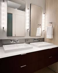 bathroom lighting ideas photos led bathroom lighting vanity slim led bath bar from sonneman