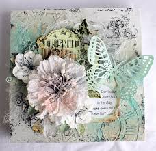 beautiful shabby chic butterfly mixed media canvas by mrs fizz in
