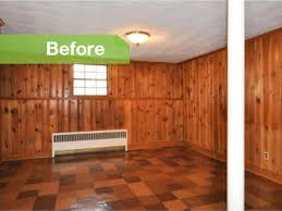 traditional knotty to nice painted wood paneling lightens a