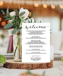 wedding itinerary template for guests the 25 best wedding itinerary template ideas on