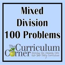 division timed tests practice pages the curriculum corner 123