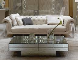 Inspiring Designer Living Room Furniture Using Mirrored Coffee - Furniture nearby