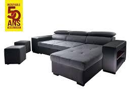 magasin de canapé d angle canapé d angle bicolore convertible 4 places edgar conforama