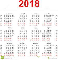 Kalender 2018 Helgdagar Mall För 2018 Kalender Vertikala Veckor Första Dag Måndag Vektor