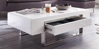 Wohnzimmertisch Mit Schublade Couchtisch Weiß Hochglanz Mit Schublade Case Loungetisch Lack