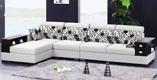 Modern Cushions For Sofas White Sofa With Florals Patterns Of Cushions Also Soft Grey Carpet